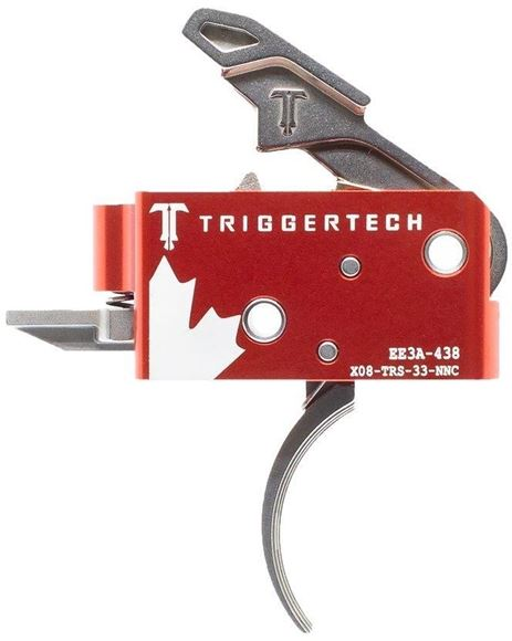 Picture of Trigger Tech, AR15 Trigger - Competitive Frictionless Trigger, Curved, Short Two Stage, Fixed 3.5lbs, Small Pin, Canada Day Edition