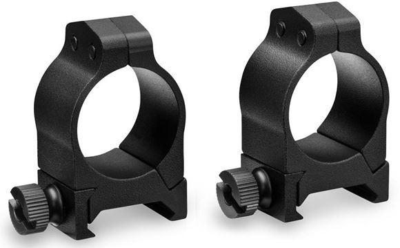 """Picture of Vortex Optics, Riflescope Rings -  Pro Series Scope Rings, Aluminum, 1"""", Low, Matte Black"""