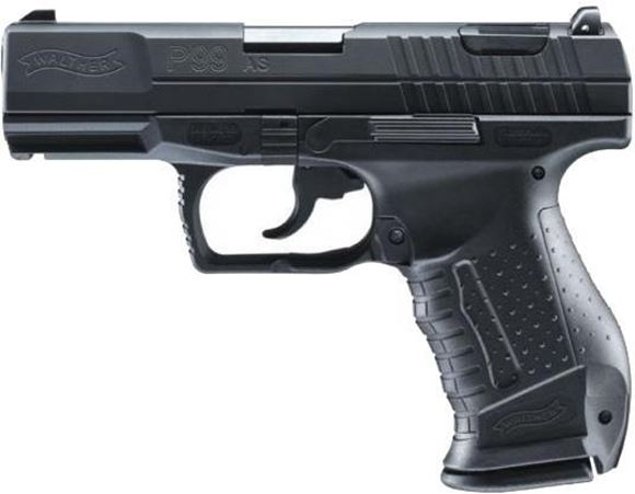 """Picture of Walther P99 AS DA/SA Semi-Auto Pistol - 9mm, 4.2"""" (106mm), Matte Tenifer Coated, Black Polymer, 2x10rds, 3 Dot Low Profile Adjustable Sights"""
