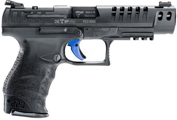 "Picture of Walther PPQ Q5 Match Semi-Auto Pistol - 9mm, 5"" Barrel, Black, 3x10 Rds, Optics Ready"