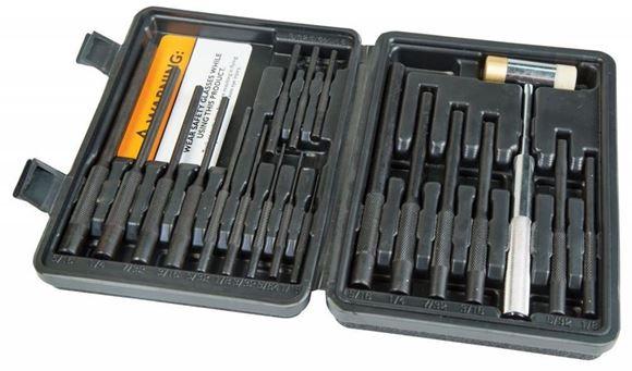 Picture of Wheeler Engineering Gunsmithing Supplies -  Master Roll Pin Punch Set, 5/16, 1/4, 7/32, 3/16, 5/32, 1/8, 3/32, 5/64, 1/16 inch