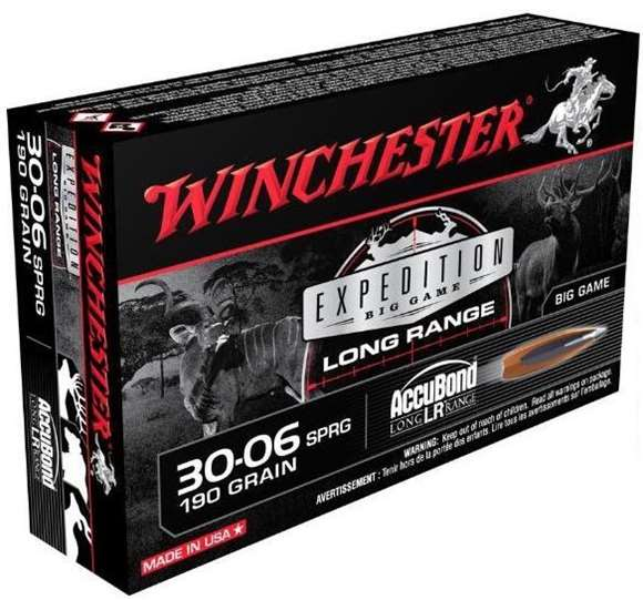 Picture of Winchester Rifle Ammunition, Expedition Big Game, Long Range, 30-06 Sprg, 190 Grain Accubond, 20 Rds Box
