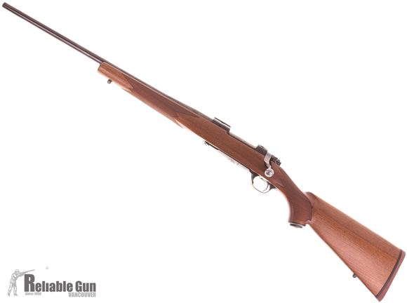Picture of Used Ruger M77 Hawkeye Left Hand Bolt Action Rifle, .243 Win, Blued, Walnut Stock, Excellent Condition