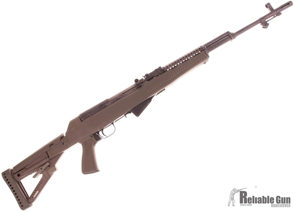 Picture of Used Siminov SKS Semi Auto Rifle, 1953 Tula, OD Green Archangel Collapsing Stock, Metal Heat Shield, Flash Hider, Finsh on Metal Is Worn Off, Fair Condition