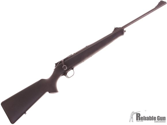 Picture of Used Blaser R8 Professional Edition Straight Pull Bolt Action Rifle - 6.5x55, 22'', Dark Green Synthetic Stock w/Elastomer Inlays on Fore-End and Pistol Grip, w/Sights, Like New Condition (20 Rds Fired)