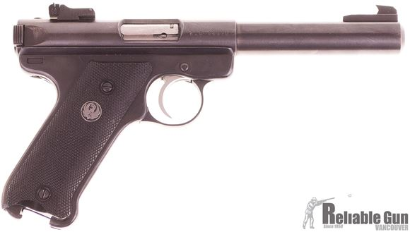 Picture of Used Ruger Mark II Semi Auto Pistol, 22 LR, 5.5'' Bull Barrel, Target Sights, 2 Magazines, Good Condition