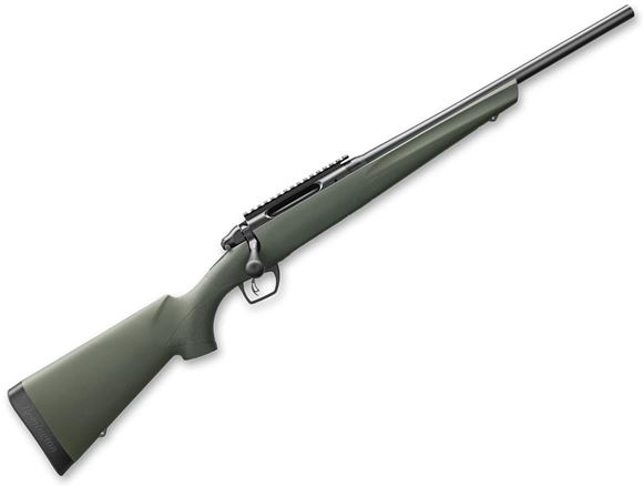 "Picture of Remington Model 783 HB Bolt Action Rifle - 450 Bushmaster, 18"", 1:8"", Matte Black, Heavy Barrel, OD Synthetic Stock, 3rds, CrossFire Adjustable Trigger, SuperCell Recoil Pad, With Picatinny Rail"