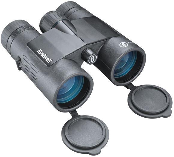 Picture of Bushnell Binoculars, Prime - 10x42mm, Waterproof/Fogproof, EXO Barrier, BAK-4 Prism Glass, Fully-Multi Coated Lens Coating, Black, Inc. Bino Case