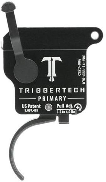 Picture of Trigger Tech, Remington 700 Trigger - Primary Frictionless Trigger, Curved, Single Stage, 1.5-4lbs, PVD Black