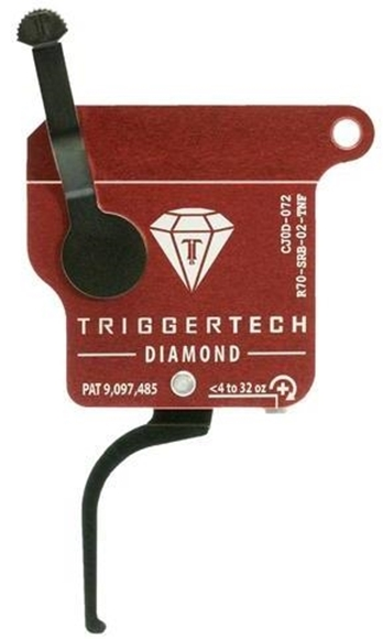 Picture of Trigger Tech Remington 700 Trigger Black Diamond Flat Clean - <4 to 32 oz Flat Trigger, Right Handed, With Safety, No Bolt Release, PVD Black.