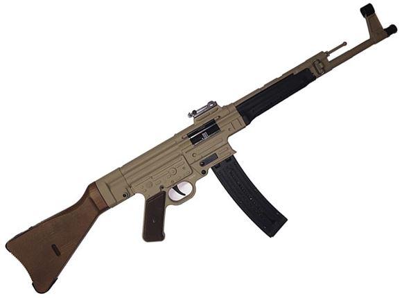 "Picture of German Sport Guns (GSG) GSG-STG 44 Rimfire Semi-Auto Rifle - 22 LR, 17.2"", FDE, Solid Wood Stock & Grip Panels, 25rds, Fixd Front Post & Adjustable Rear Sights"