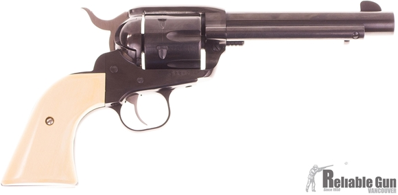 "Picture of Used Ruger New Vaquero Single Action Revolver - 357 Mag, 5.50"", Blued, Light Colour Wood Grips, Grips, 6rds, Fixed Sights, Excellent Condition"
