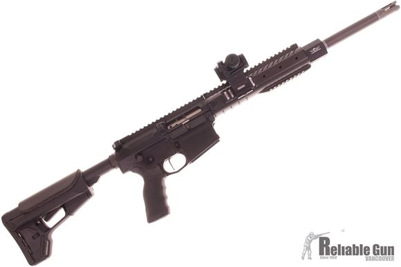"Picture of Used Christensen Arms CA-10 Recon Tactical Semi-Auto Carbine - 308 Win, 18"", Carbon Mid No Finish, Carbon Recon Rifle Handguard, Black Magpul ACS Stock, Titanium Muzzle Brake, Trigger Tech Flat Trigger, JP Captured Buffer, Standard Safety, Ambi Magazine"