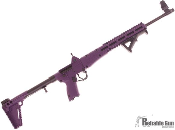 Picture of Pre Owned Kel-Tec Sub 2000 Gen 2 Black Lotus Special Edition, 9mm Semi Auto Folding Rifle, Purple Synthetic Stock, AFG, 1 Magazine, Presentation Box, As new Condition