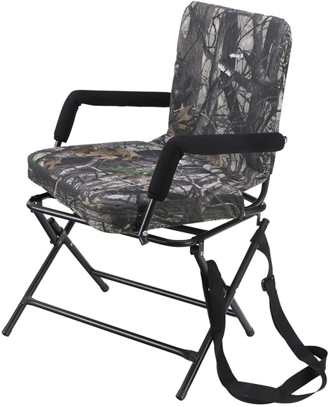 Picture of Allen Hunting Accessories - Seat/Stool/Pad, Vanish Folding Swivel Chair w/Padded Arm Rests, Mossy Oak Obsession Camo