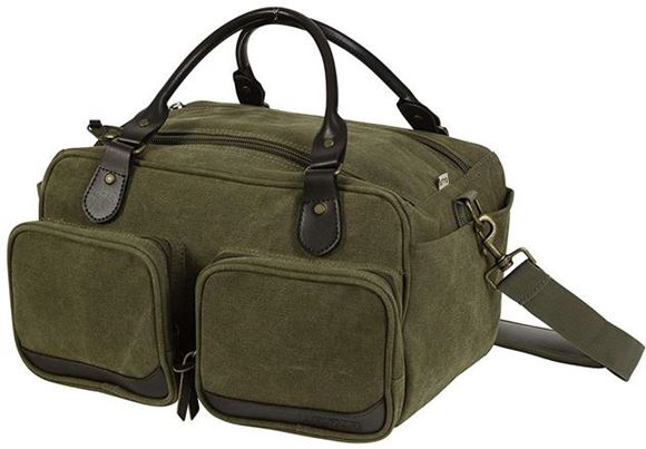 Picture of Allen Shooting Accessories, Shooting Bags - Heritage North Platte Range Bag, Olive/Leather
