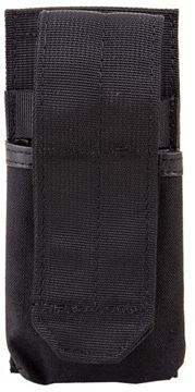 Picture of Blackhawk Ammo Pouch Tactical Nylon - Buttstock Mag Pouch, M4, Black, MOLLE Compatible, Heavy Duty Fabric, Velcro Flap