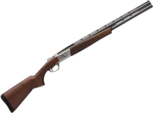 """Picture of Browning Cynergy Micro Midas Over/Under Shotgun - 20Ga, 3"""", 24"""", Vented Rib, Satin Blued, Satin Grade I Black Walnut Stock, Silver Bead Front Sight, Invector-Plus Flush (F,M,IC)"""