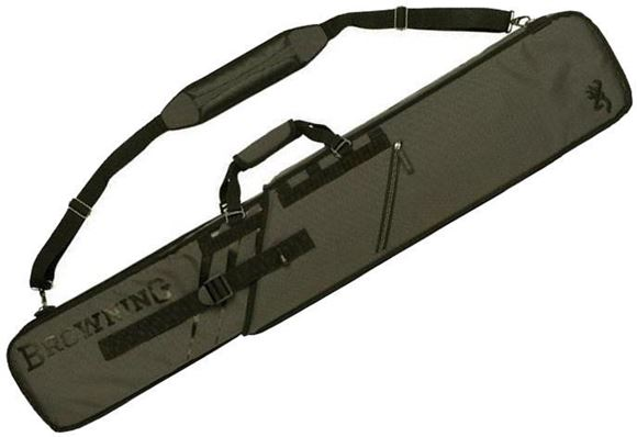 "Picture of Browning Gun Cases, Slider Gun Cases - Slider Rifle Case, Water-Resistant Ripstop Fabric, Telescoping Design, Side Pockets, Padded Strap, Internal Foam Padding, 50"" x 2"" x 10"""