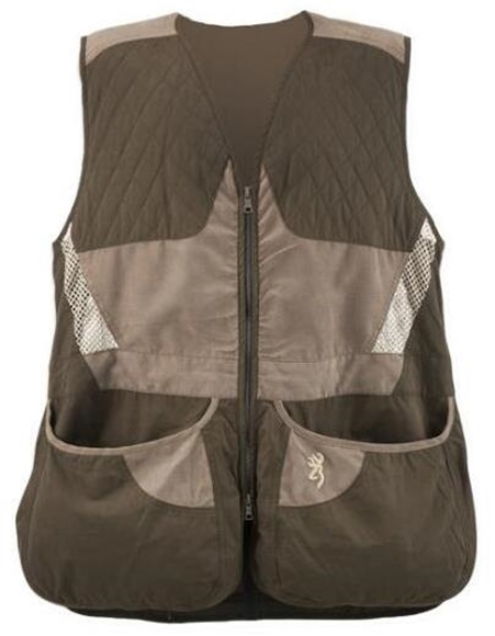 Picture of Browning Outdoor Clothing, Shooting Vests - Mens Summit Shooting Vest, Chocolate/Taupe, Right-Hand, 2XL