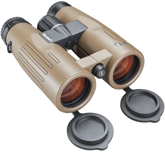 Picture of Bushnell Binoculars, Forge - 10x42mm, PC-3 Phase Coated Roof Prism, Waterproof/Fogproof, EXO Barrier, ED Prime Glass, Ultra Wide Band Lens Coating, Brown