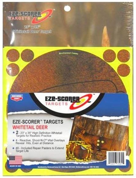 "Picture of Birchwood Casey Targets, Shoot-N-C Targets - Eze-Scorer Target, 2x 23""x35"" Whitetail Deer Targets, 4x Shoot-N-C Vitals Overlay, 48 Repair Pasters"
