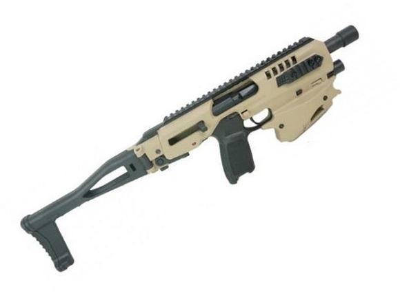 Picture of CAA - MCK Micro Conversion Kit (NFA) - Composite Chassis for Sig 320, Ambidextrous, Integral Charging Handle, Top & Side Rails, Folding Buttstock, Tan/FDE