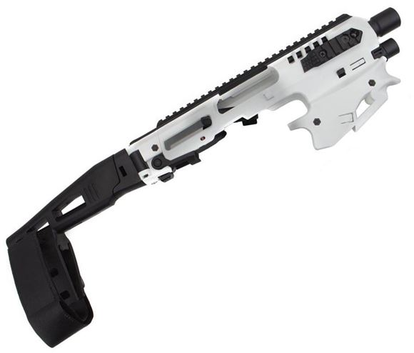 Picture of CAA - MCK Micro Conversion Kit (NFA) - Composite Chassis for Glock 17,19,19x,22,23,31,32,G45, Ambidextrous, Integral Charging Handle, Top & Side Rails, Folding Buttstock, White