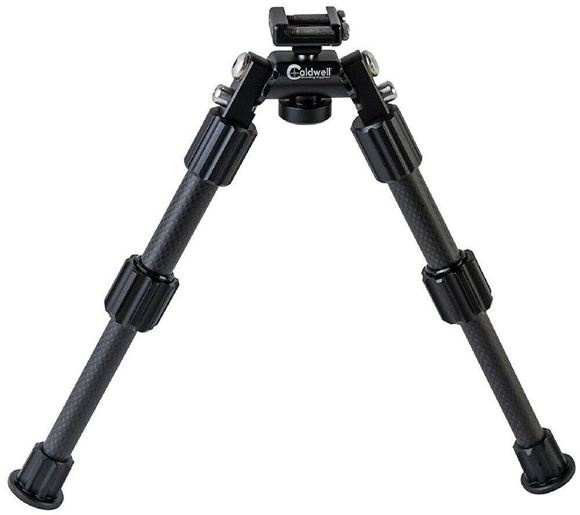 "Picture of Caldwell Shooting Supplies - Accumax Premium Carbon Fiber Bipod, 6-9"", Omni-Directional Pivot Mount, Picatinny Rail"