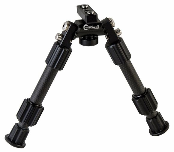 "Picture of Caldwell Shooting Supplies - Accumax Premium Carbon Fiber Bipod, 6-9"", Omni-Directional Pivot Mount, Fits Both M-Lok or Key Mod"