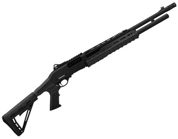 "Picture of Canuck Sentry Pump Action Shotgun - 12ga, 3"", 24"", Green Receiver, Black Synthetic Adjustable Pistol Grip Stock, Fiber Optic Front Sight, Optic Rail, Heat Sheild, 8+1, Mobil Choke Flush (C,M,F) + Breacher Choke"