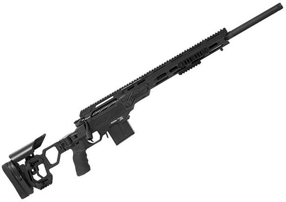 "Picture of Cadex Defense CDX-30 GUARDIAN Rifle - 6.5 Creedmoor, 24"", 1-8"" Twist, Black, DX2 Trigger, Oversized Cross Hatch Bolt Knob, 10rds, Skeleton Buttstock, 20 MOA Rail, With MX1 Muzzle Brake"