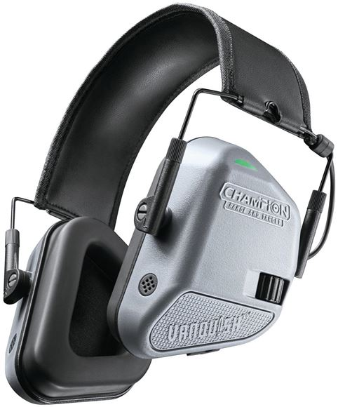 Picture of Champion Ears, Muffs - Vanquish Electronic Ear Muff, 22dB, Lightweight, Grey,  Easy Volume Control