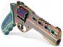 "Picture of Chiappa Rhino Nebula 60DS Revolver - 357 Mag, 6"", Multi Color PVD, Blue Laminate Grip, 6rds, w/Moonclips, Fiber Optic Front & Adjustable Rear Sights"