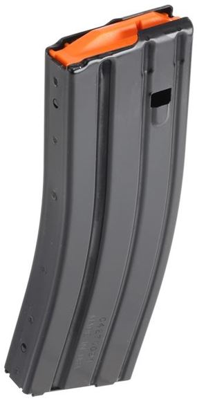 Picture of C-Products Defense Rifle Magazines - 223/5.56, 5/30rds, Matte Black, 400 Series Stainless Steel, Orange Plastic Anti-Tilt Follower, 17-7 Stainless Steel Wire Spring