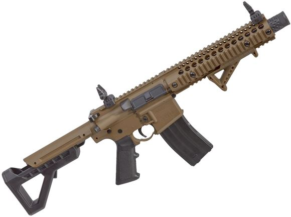 Picture of Crosman DPMS SBR Full-Auto Blow Back CO2 BB Air Rifle - .177, 430fps, 1 Magazine, 1400 Rounds Per Minute, Compatable With Metal BBs, Flat Dark Earth (FDE)