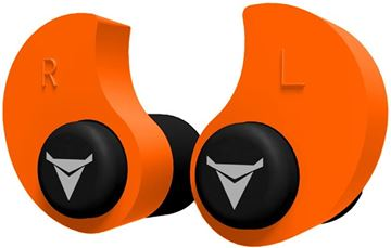 Picture of Decibullz Custom Molded Earplugs - 31dB NRR, Re-Moldable Thermoplastic, Orange