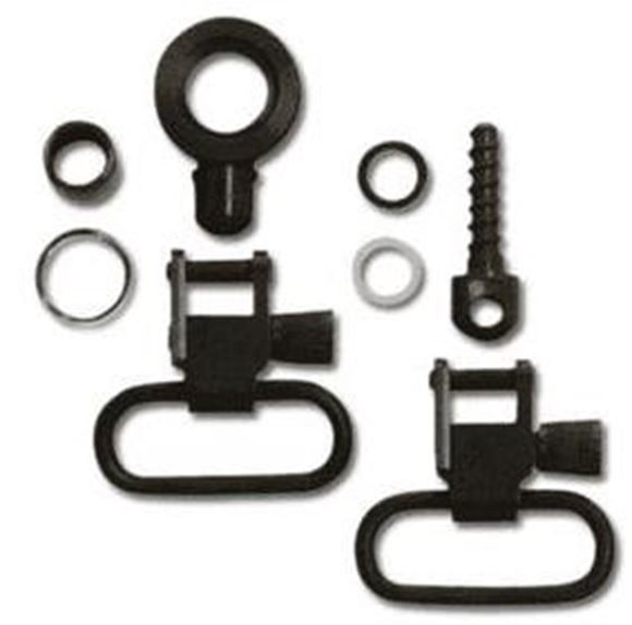 "Picture of GrovTec GT Swivels, GT Locking Swivel Sets - For Browning BLR Lever Action Rifles, 1"" Loops, Blued, Does not fit Browning BLR Lighting"