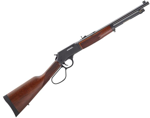 """Picture of Henry Big Boy Steel Lever Action Rifle - 357 Mag/38 Special, 16.5"""", Blued, Steel Receiver, American Walnut Stock w/Straight Grip, 7rds"""