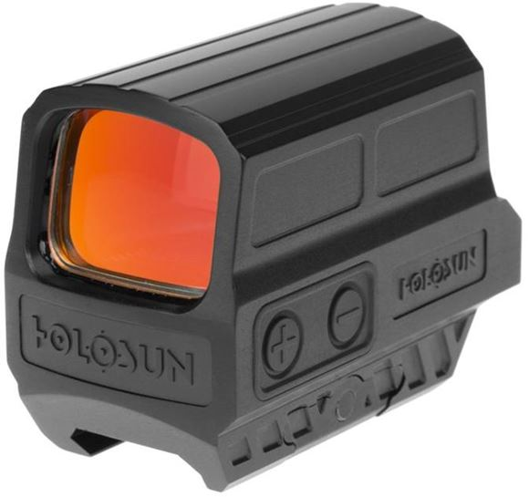Picture of Holosun Reflex Sights - HS512C Reflex Sight, Black, 2 MOA Red Dot; 65 MOA Circle, 7075 Aluminum Housing, Solar Cell, CR2032, Up to 50,000 hrs