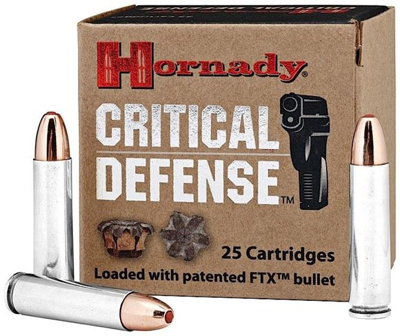 Picture of Hornady Critical Defense Rifle Ammo - 30 M1 Carbine, 110Gr, FTX Critical Defense, 25rds Box