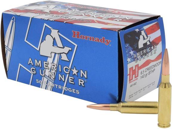 Picture of Hornady Match Rifle Ammo - American Gunner, 6.5 Creedmoor, 140Gr BTHP Match, 50rds Box