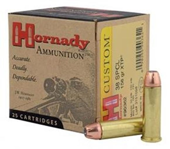 Picture of Hornady Custom Handgun Ammo - 38 Special, 158Gr, XTP, 25rds Box