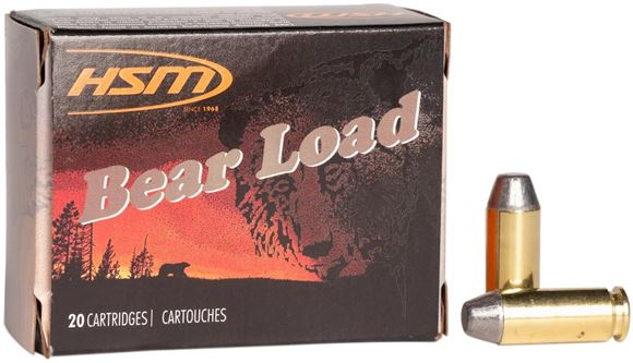 "Picture of HSM Bear Load Rifle Ammo - 10mm, 200Gr, Lead RNFP Gas Check ""Bear Load"", 20rds Box"