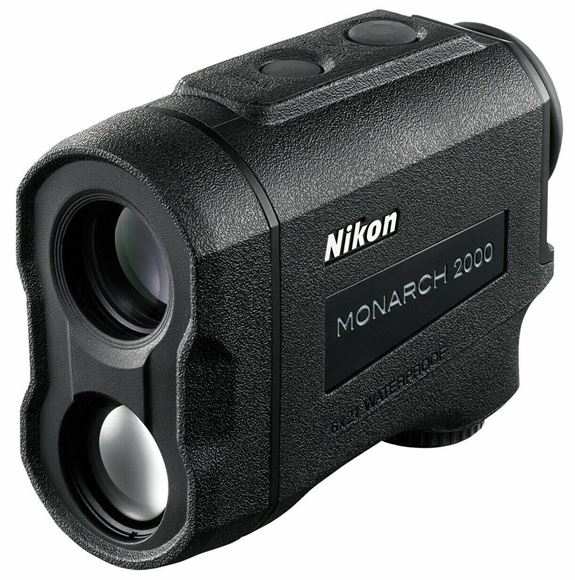Picture of Nikon Sport Optics Rangefinders - Monarch 2000 Laser Rangefinder, 6x21mm, 8-2000yds, Tru-Target Priority System and ID, Waterproof/Fogproof, Black, CR2 Lithium Battery