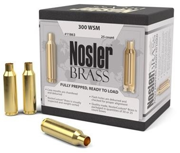 Picture of Nosler Brass, Nosler Brass - 300 WSM, 25ct