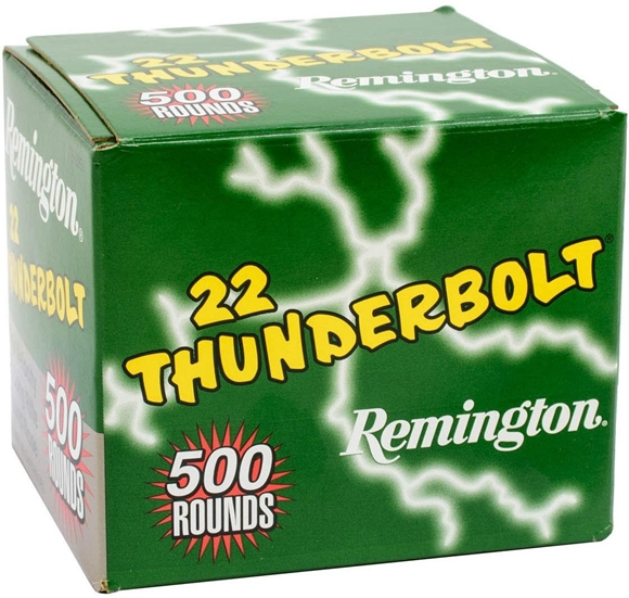 Picture of Remington Thunderbolt Rimfire Ammo - High Speed, 22 LR, 40Gr, RN, 5000rds Case