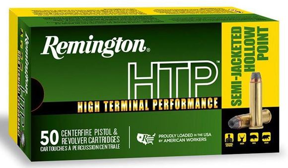 Picture of Remington HTP, High Terminal Performance Pistol/Revolver Handgun Ammo - 357 Mag, 158Gr, Semi-Jacketed Hollow Point, 50rds Box, 1235fps