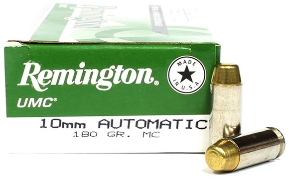 Picture of Remington UMC Pistol & Revolver Handgun Ammo - 10mm Auto, 180Gr, MC, 50rds Box