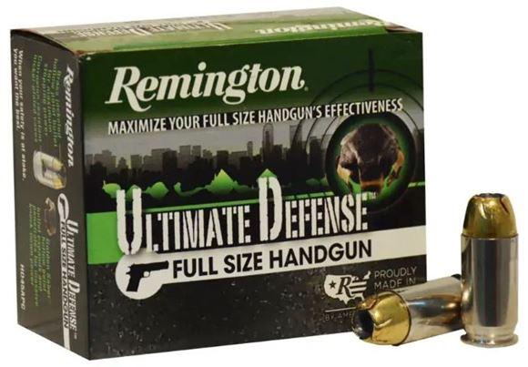 Picture of Remington HD Ultimate Home Defense Pistol & Revolver Handgun Ammo - 45 Auto +P, 185Gr, Golden Saber BJHP, 20rds Box